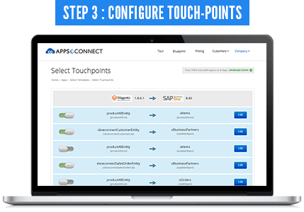 Configure touchpoints