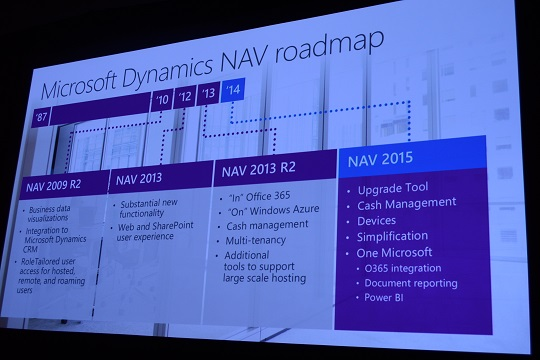 Microsoft Dynamics NAV 2015 unveiled at WPC 2014