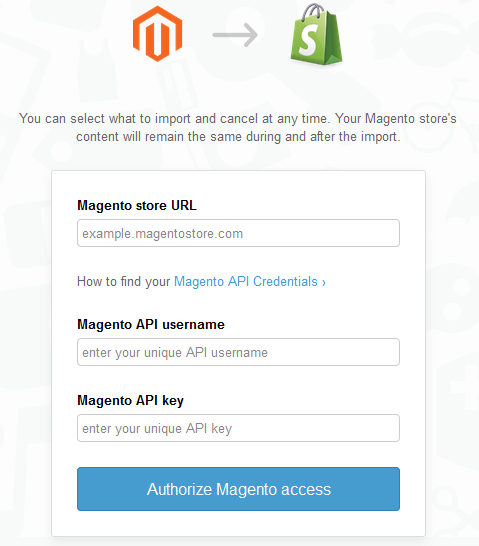 Migrating from Magento/Magento Go to Shopify