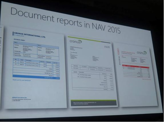 Documents reporting in NAV 2015