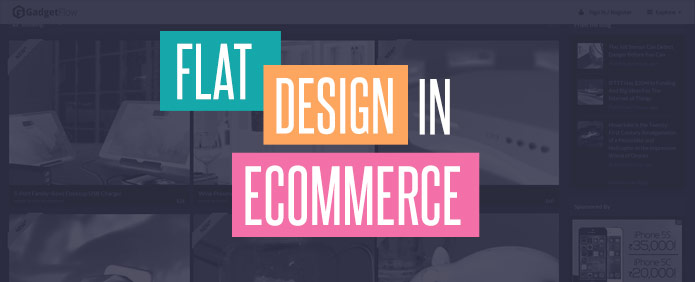 Flat Designs in Ecommerce