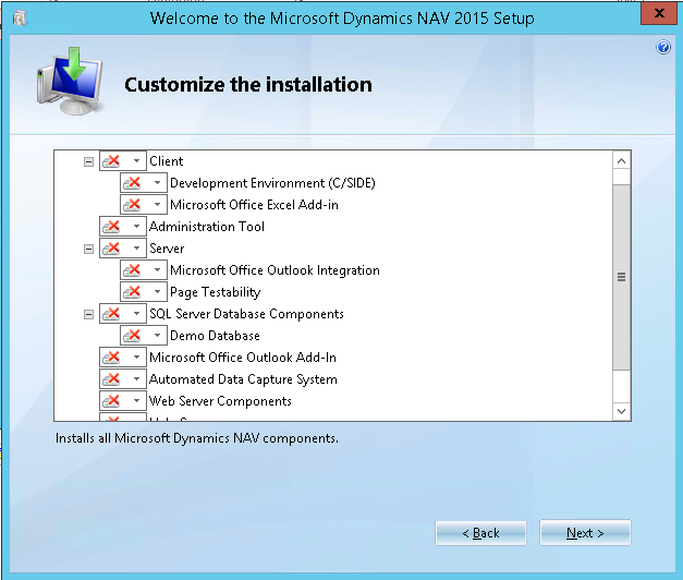 nav 2015 install customize