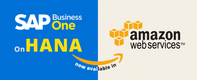 SAP Business One on HANA now available in Amazon AWS