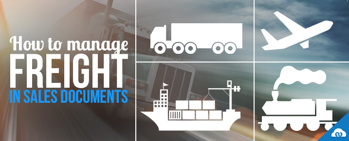 How to manage Freight in Sales Documents