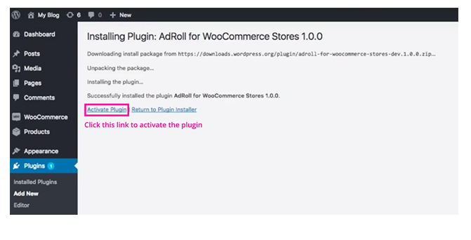 Install AdRoll Plugin For WooCommerce