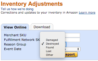 Inventory Adjustment on Amazon