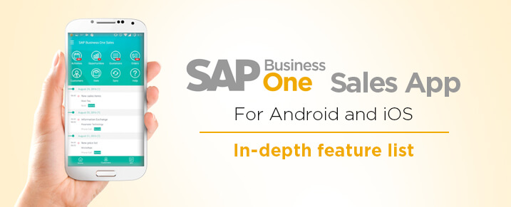 SAP Business One sales app for Android and iOS