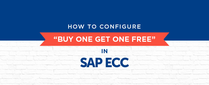 How to configure buy one get one free in SAP
