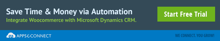 integrate woocommerce and Dynamics CRM
