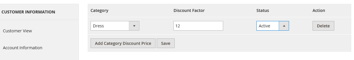 customer category based discount in magento