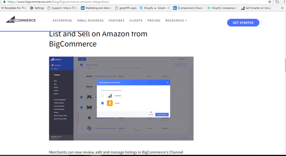 list and sell on amazon from bigcommerce