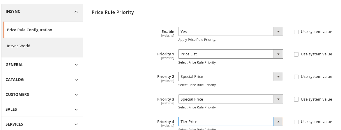 price rule priority in magento