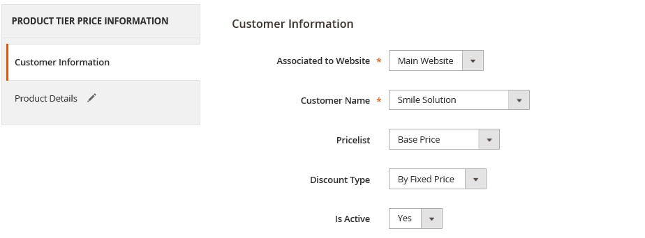 product tier price in magento