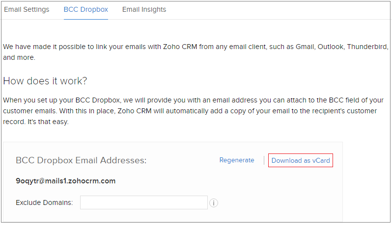 bcc dropbox email address