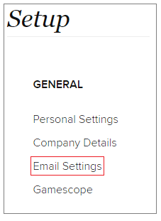 setup email setting in zoho crm