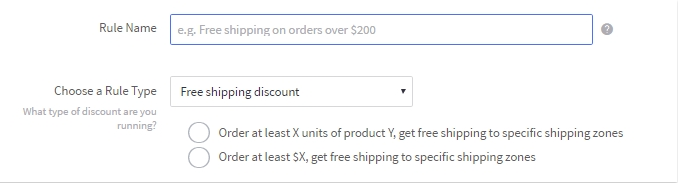 enter rule name for cart level discounts in bigcommerce